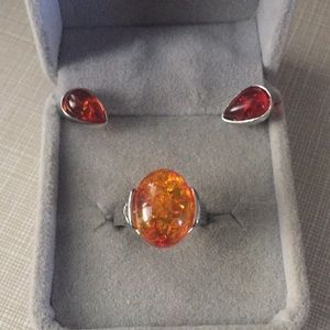 Jewelry - Natural Amber cherry and yellow Set